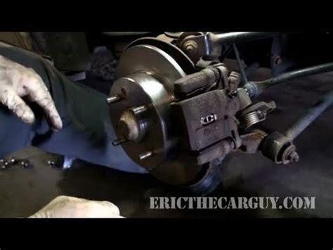 replace rear disc brakes full ericthecarguy