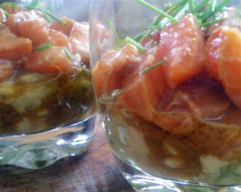 cuisiner saumon frais verrine de saumon mariné cuisiner avec ses 5 sens