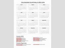 Calendario Guatemala Año 2018 Feriados