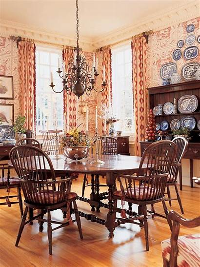 Country French Dining Toile Faudree Charles Hgtv