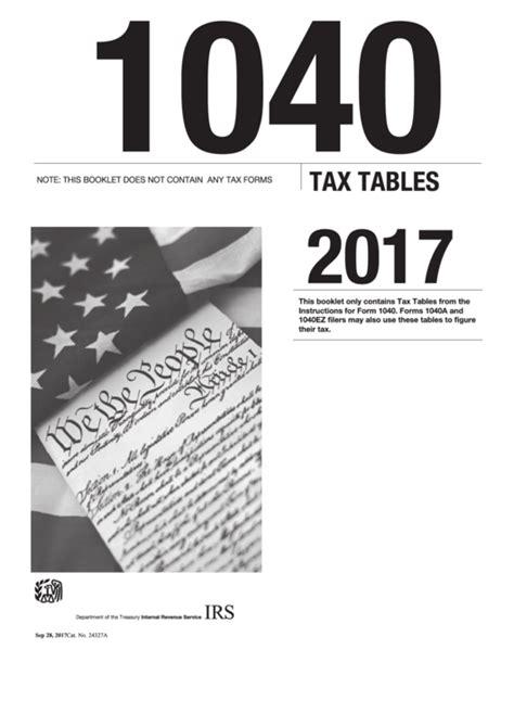 form  tax tables  printable