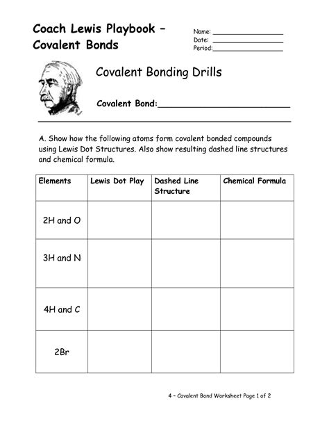 images  types  chemical bonds worksheet