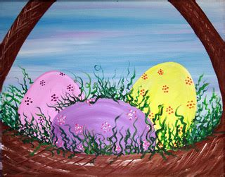 easter basket � the blank canvas splattered