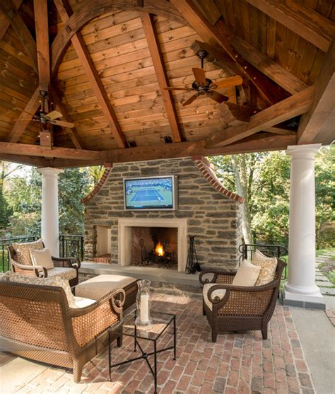 timber framed pavilion traditional patio