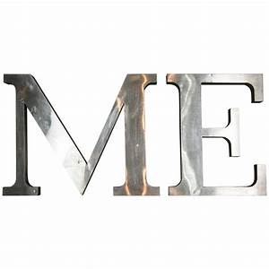 Large Decorative QuotMEquot Stainless Steel Letters At 1stdibs