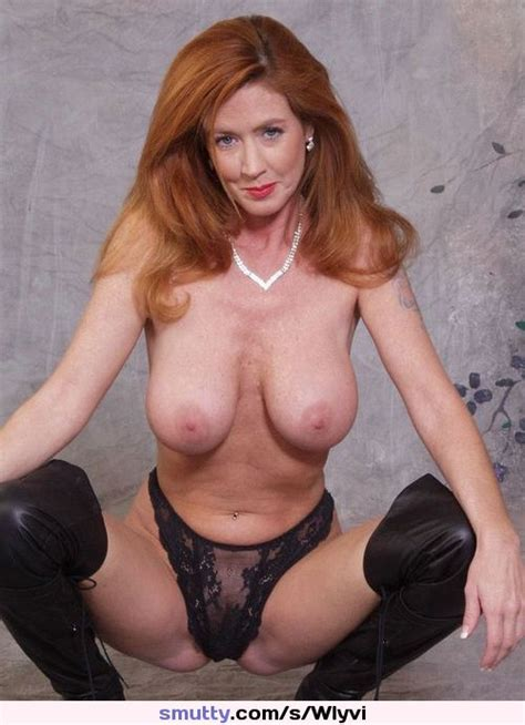 Mature Milf Redhead Boobies Panties Leather Redhair