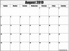 August 2019 Calendar FREE DOWNLOAD Freemium Templates