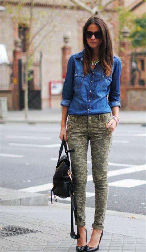 How to Style Camo Pants | Denim shirt Fashion design and Camo