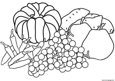autumn harvest coloring page fall coloring pages printable
