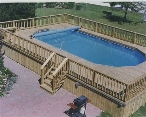 Above Ground Pool Deck Over Edge