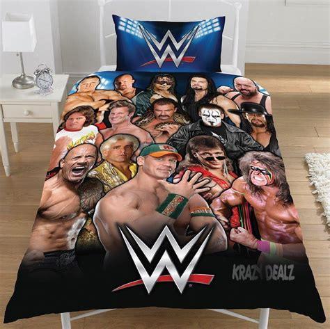 wwe wrestling legends single duvet quilt cover set boys
