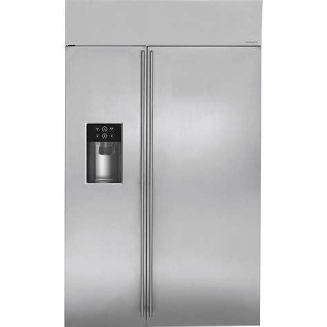 monogram  cu ft side  side built  refrigerator stainless steel  pacific sales