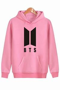 simple letter bts letter print long sleeves pullover With letter hoodie