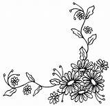 Corner Flower Daisy Border Drawing Clipart Borders Floral Chain Tattoo Flowers Drawings Tattoos Tatoo Foot Want Adapt Something Getdrawings Ankle sketch template