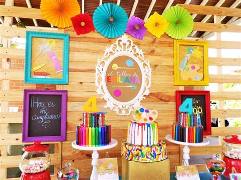 art party birthday party ideas photo    catch