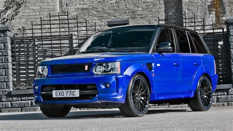 imperial blue range rover sport rs  kahn design