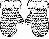 Mittens Coloring Knitted Knitting Colouring Adult Knit Printable sketch template
