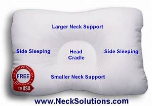 d core neck support pillow With cervical support pillow side sleeper