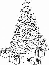 Coloring Christmas Pages Trees Print Popular sketch template