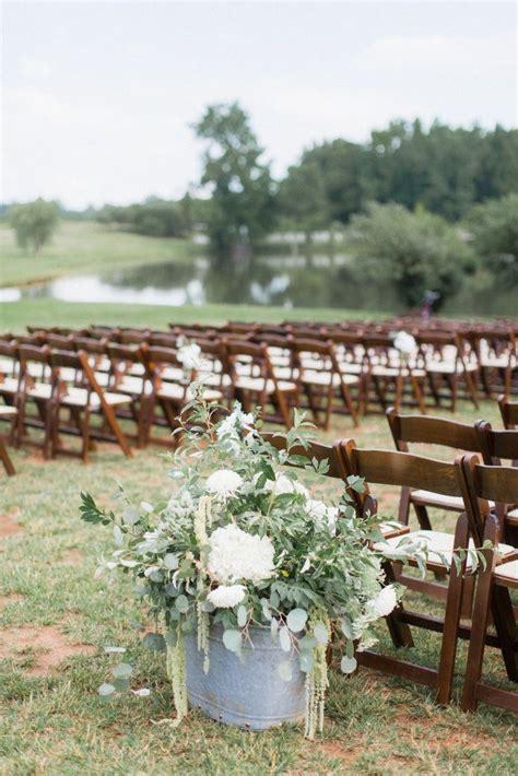 outdoor wedding cermeony ceremony flower ideas featured southern weddings adaumont farm