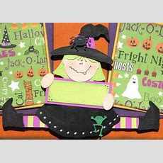 The Avid Scrapper Halloween Pages For October's Class