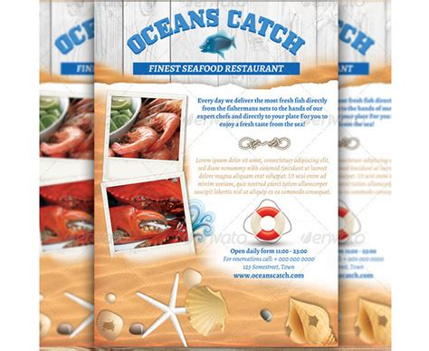 fischrestaurant flyer seafood