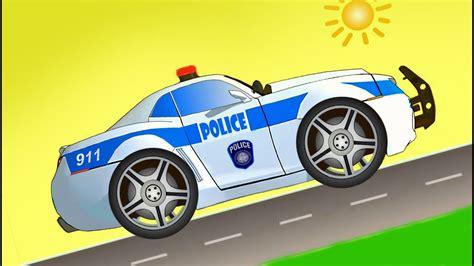 cartoni animati  bambini piccoli macchina polizia