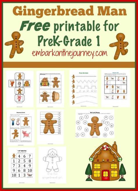 gingerbread man unit study  printable  prek