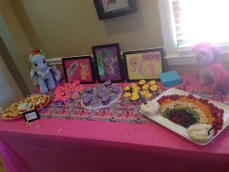 my little pony table dessert table for my little pony party rainbow unicorn