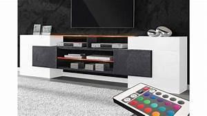 Meuble Tv Lumineux : meuble tv design lumineux collection sonia tr s robuste ~ Teatrodelosmanantiales.com Idées de Décoration