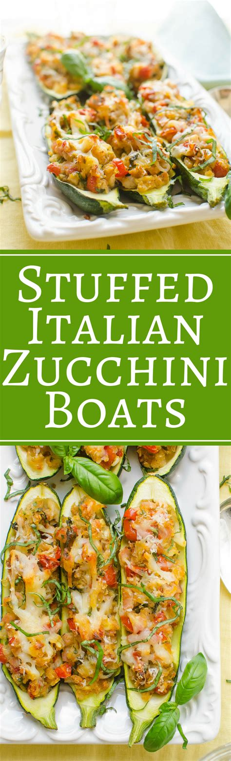 Italian Stuffed Zucchini Boats Nutrition Facts by Stuffed Italian Zucchini Boats Garlic Zest