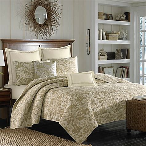 Bahama Coverlets by Bahama 174 Hanalie Hibiscus Quilt In Neutral Bed Bath