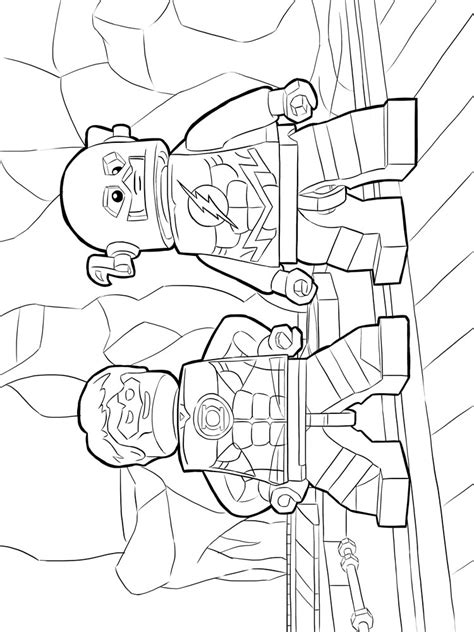 lego flash coloring pages  printable lego flash coloring pages
