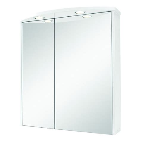 wickes illuminated double mirror bathroom cabinet white