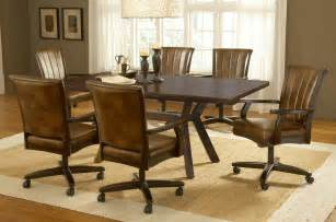 dining room chairs with rollers dining room table with