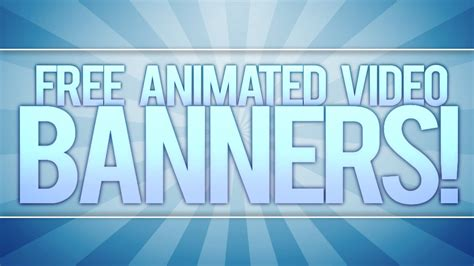 Adobe After Effects Banner Templates by Free Animated Video Banner Template Adobe After