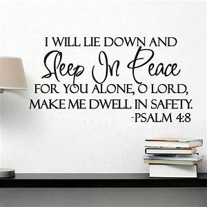 I WILL LIE DOWN AND SLEEP IN PEACE PSALM 4:8 BIBLE VERSE