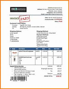 Invoice template paid robinhobbsinfo for Paid invoice receipt template