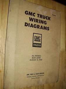 Purchase 1969  Chevrolet   Gmc Truck Shop Manual Wiring Diagrams Motorcycle In Benton  Illinois
