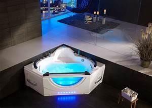 Baignoire Pour 2 : baignoire baln o d 39 angle 2 places amazonia ~ Edinachiropracticcenter.com Idées de Décoration