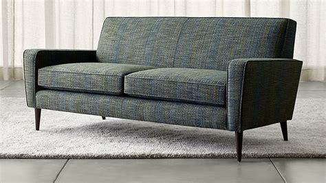crate and barrel apartment sofa torino blue modern apartment sofa crate and barrel