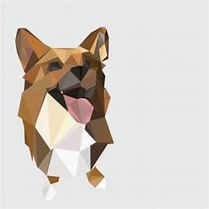 Geometric Dog Illustrations - Amy Nguyen Portfolio