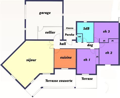 plans de maison plain pied 3 chambres faire construire une maison individuelle plain pied