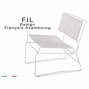 Fauteuil Fil Plastique : fauteuil lounge minimaliste fil structure et assise acier ~ Edinachiropracticcenter.com Idées de Décoration