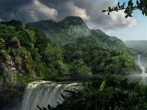 Mountains Nature Forest Waterfall Waterfalls Rivers Jungle