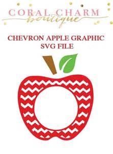 cake topper initials monogram chevron apple svg file crafts