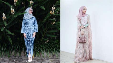 inspirasi gaun muslimah elegan  kondangan  la