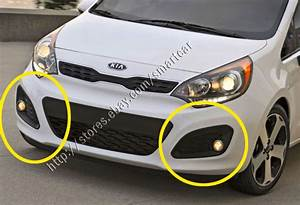 Fog Lamp Set For 2012 2013 2014 2015 Kia Rio 3 Door    Rio5