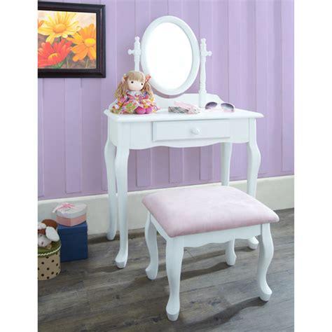 Kids Vanity Furniture by Vanity With Stool White Walmart Com