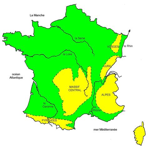 Carte De La Vierge Avec Les Massifs Montagneux by Carte Des Massifs Montagneux Voyages Cartes